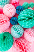 Colorful party decorations