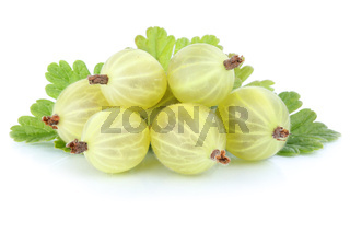 Stachelbeeren Stachelbeere Früchte Beeren Beere Obst Freisteller freigestellt isoliert