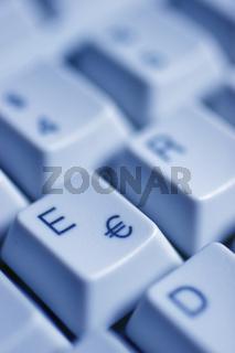 Eurosymbol auf einer Computertaste / Eurosymbol on a computer key
