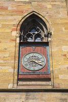 Colmar, Dial on the Collegiate Church Saint-Martin also Martinsmünster
