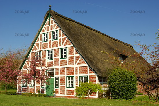 thatched house in the old country