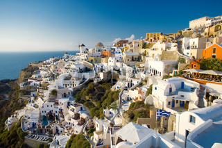 summer view of Oia