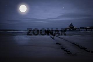 Mondschein am Meer