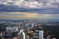 Top view of Kuala Lumpur, Malaysia