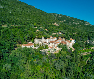 Convent of Nossa Senhora da Arrabida in the National Park in Portugal