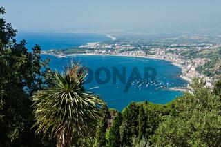 Bay of Giardini Naxos, Sicily, Italy