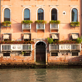 300 years old venetian palace facade from Canal Grande