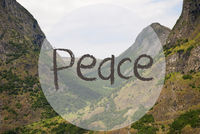 Valley And Mountain, Norway, Text Peace