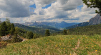 Panoramic view of Val Badia, Italy