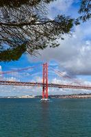 Lisbon and 25th of April Bridge - Portugal