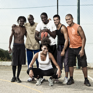 Street basketball team