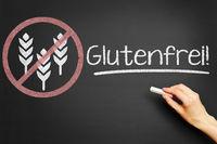 Glutenfrei als Symbol mit Getreide in einem Verbotsschild