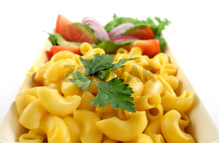 Macaroni Cheese And Salad