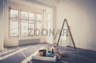 room  during restoration , renovation concept -