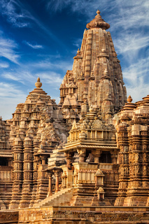 Famous temples of Khajuraho, India