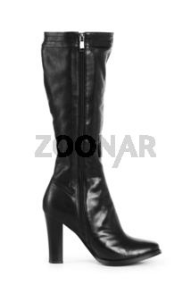 Black boots isolated on the white background