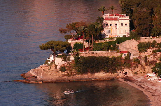 Landzunge mit Villa, Bucht von Roquebrune