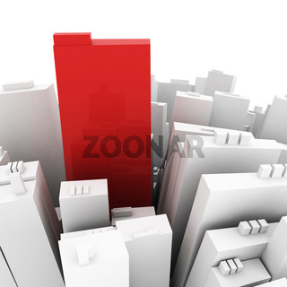 centre of the city concept