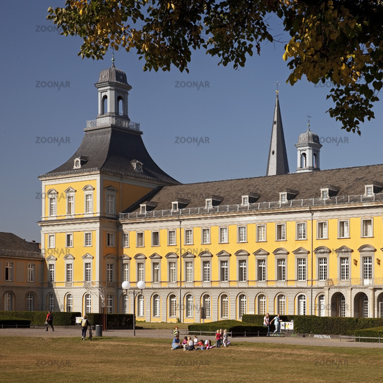 former Electoral Palace, now main building of University, Bonn, North Rhine-Westphalia, Germany