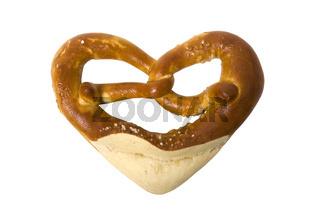 fresh Bavarian pretzel for breakfast