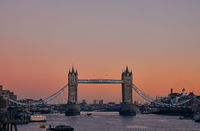 Tower Bridge during sunset, London, United Kingdom