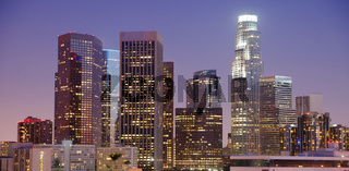Tight View Highest Buildings Downtown Los Angeles California