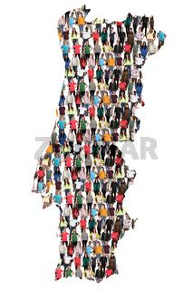 Portugal Karte Leute Menschen People Gruppe Menschengruppe multikulturell