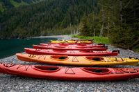 Bright Sea Kayaks on Shoreline