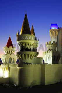 Excalibur Hotel & Casino in Las Vegas at night