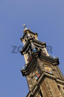 Westerkerk Westturm  Amsterdam Holland