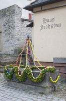 Easter time in Rosengarten-Tullau with decorated water well