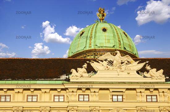 Hofburg, dome above the Michaelertor, Vienna