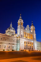 Almudena Cathedral at Madrid Spain