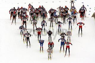Skilanglauf: Start 50km Maenner