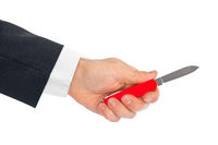 Hand with knife multitool