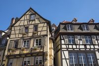 Colmar, historic half-timbered houses on Place de Dominicains