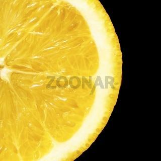 a orange isolated on black