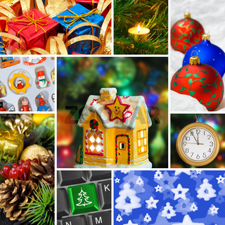 Collage of christmas images