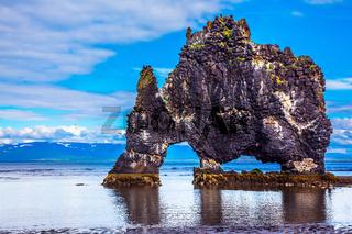 The basalt rock