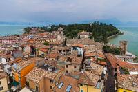 Castle on Lake Garda in Sirmione Italy