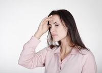 Businesswoman under stress in office