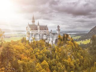 castle Neuschwanstein in Bavaria Germany