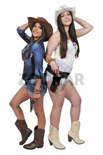 Cowgirls with relvolvers