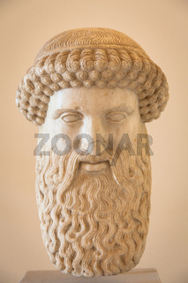 VENICE, ITALY - JUNE 27, 2016: Hermes head in Palazzo Ducale Museum