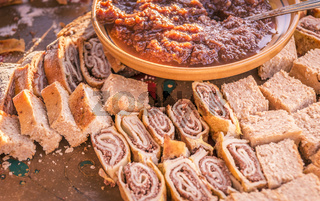 Various and delicious Slovenian desserts