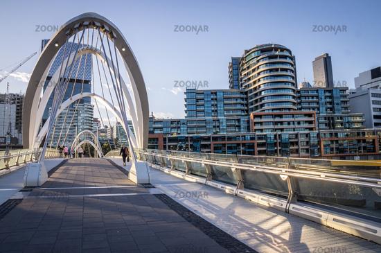 Seafarers Footbridge in Melbourne, Victoria, Australia.