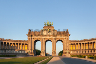 Perspective panoramic view to the Triumphal Arch