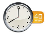 office wall clock timer 40 minutes