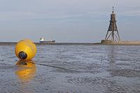 Kugelbake, Cuxhaven, Lower Saxony, Germany, Europe