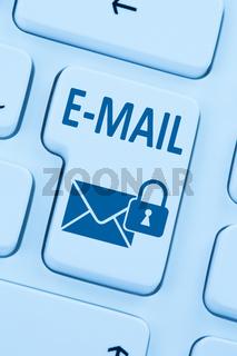 Verschlüsselte sichere E-Mail Email Mail senden Internet Brief online web